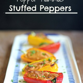 Roasted Red Pepper Hummus Stuffed Peppers
