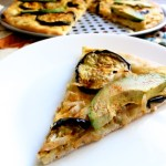 Avocado and Eggplant Pizza