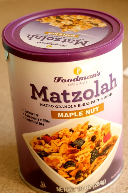 matzolah passover granola