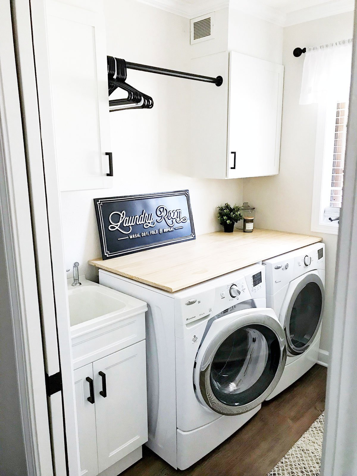 Farmhouse Laundry Room Floor Modern Farmhouse Inspired Laundry Room Reveal What Karly