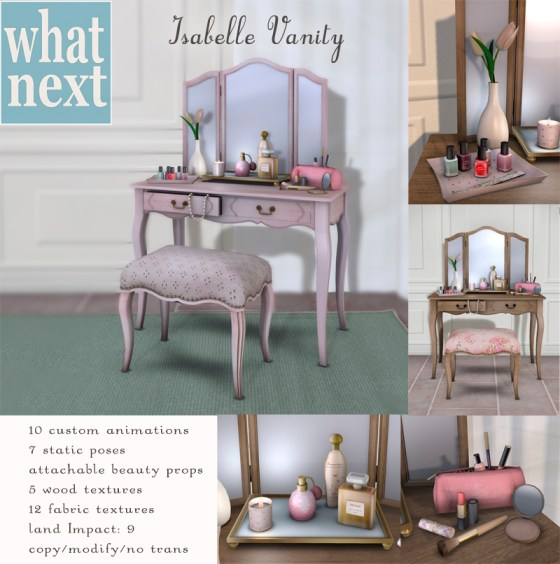 {what next} Isabelle Vanity For The Garden800