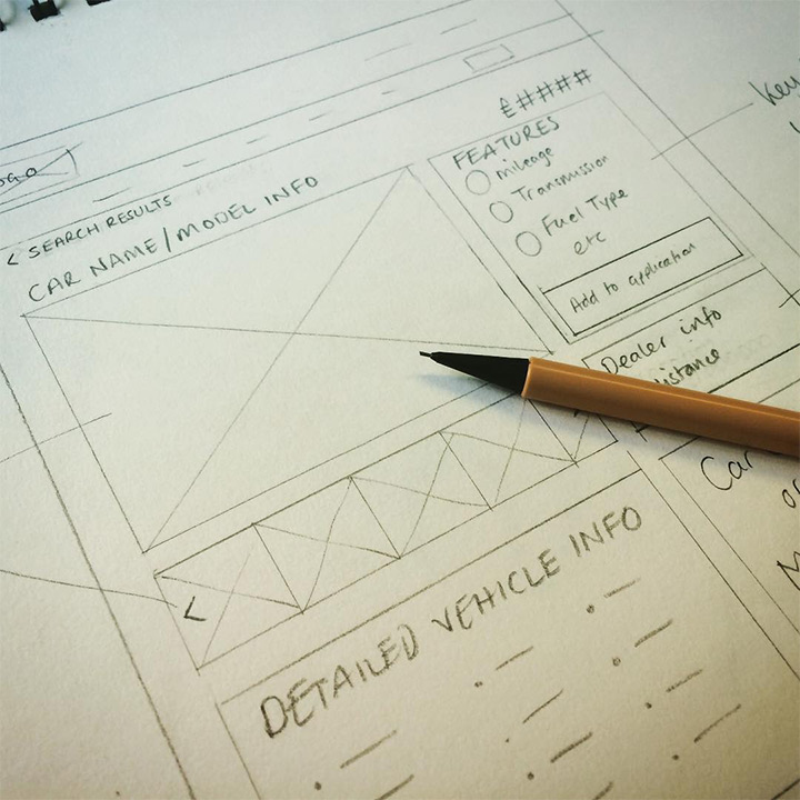 UI/UX Design Sketches and Wireframes from Instagram