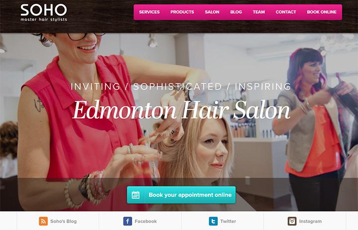100+ Beauty  Hair Salon Website Designs