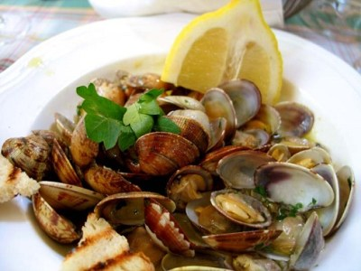 Spanish Steamed Clams Recipe, Whats Cooking America