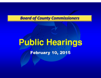 2/10/15 – Public Hearing Regarding Rezoning For Orlando Health Porter Road Campus