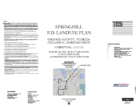 Spring Hill (Village H) Land Use Plan