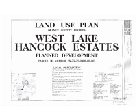 West Lake Hancock Estates Land Use Plan