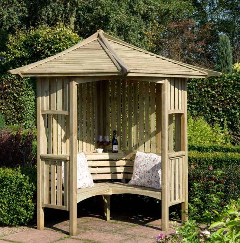 Garpa Sale Blooma Solway Wooden Corner Arbour - What Shed