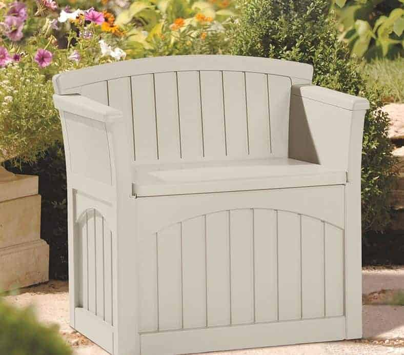 239 X 239 Suncast Patio Storage Seat What Shed