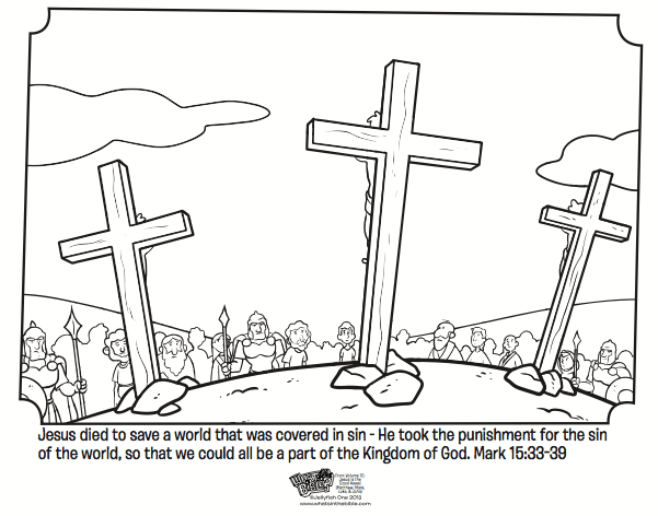 Jesus On The Cross Bible Coloring Pages What39s In The