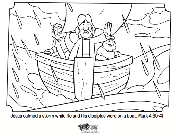 Jesus Calms The Storm Bible Coloring Pages What39s In