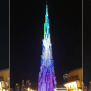 Burj Khalifa Unveils Colourful New Light Show