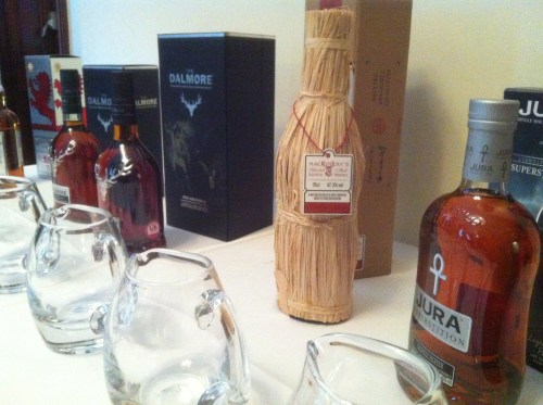 The whiskies, with Mackinlay's Shackleton taking centre stage