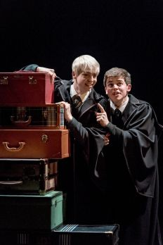 L-R Anthony Boyle (Scorpius Malfoy) and Sam Clemmett (Albus Potter) photo by Manuel Harlan