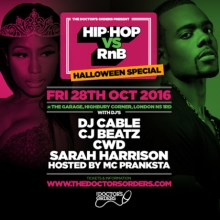 Hip-Hop vs RnB – Halloween Special at The Garage, London