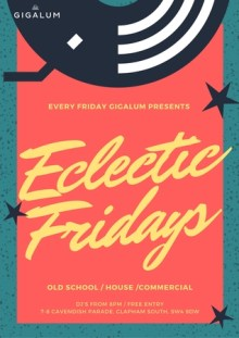 Eclectic Fridays – Funk   New Disco   Indie   Rock