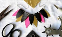 Make it: leather jewellery