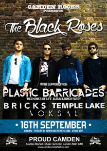 Camden Rocks presents The Black Roses and more at Proud Camden
