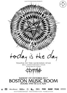 Today Is The Day + Tombs at Boston Music Room