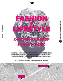 X-MAS London Fashion + Lifestyle Pop Up, hosted by LDC