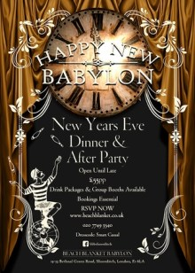 Happy New Babylon. New Year's Eve Dinner and After party