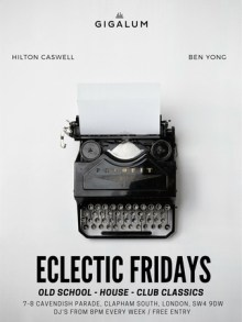 Eclectic Fridays at Gigalum