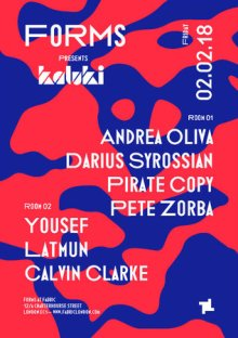 Forms presents Kaluki with Andrea Oliva, Darius Syrossian, Yousef & More