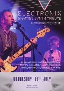 ELECTRONIX – 80's Synth Pop Tribute Live at The Half Moon Putney