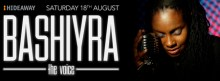 Bashiyra soul singer at Hideaway Jazz Club London