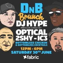 DNB Brunch Launch – A bottomless drum & bass themed brunch with DJ Hype