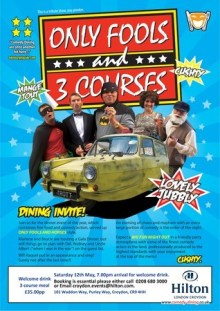 Only Fools and 3 Courses The Sequel Comedy Night with Dinner Croydon