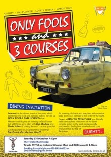 Only Fools and 3 Courses Comedy Night and Dinner in Twickenham