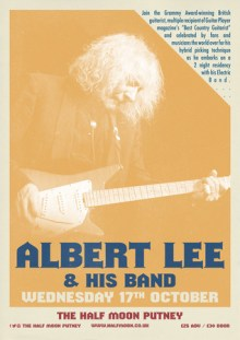 Albert Lee Live at The Half Moon Putney London Wednesday 17 October 2018