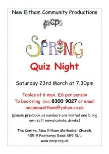 Spring Quiz Night