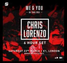Chris Lorenzo 'Me & You' UK Tour – E1 London