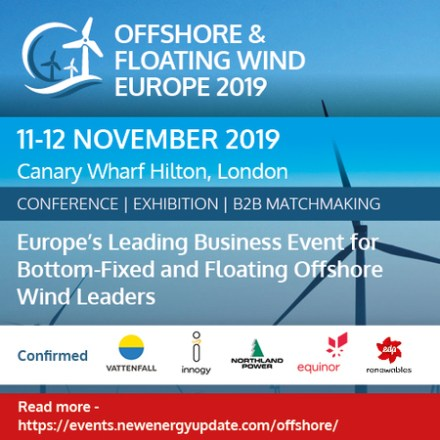 Offshore & Floating Wind Europe 2019 (11-12 Nov) co-located with ITES