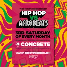 Hip-Hop vs Afrobeats at Concrete Shoreditch – Sat 20th June