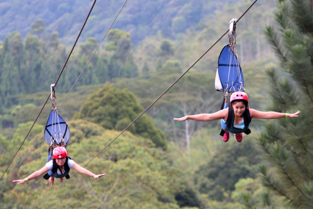 Bukidnon Zipline at Dahilayan Adventure Park, the longest zipline in Asia