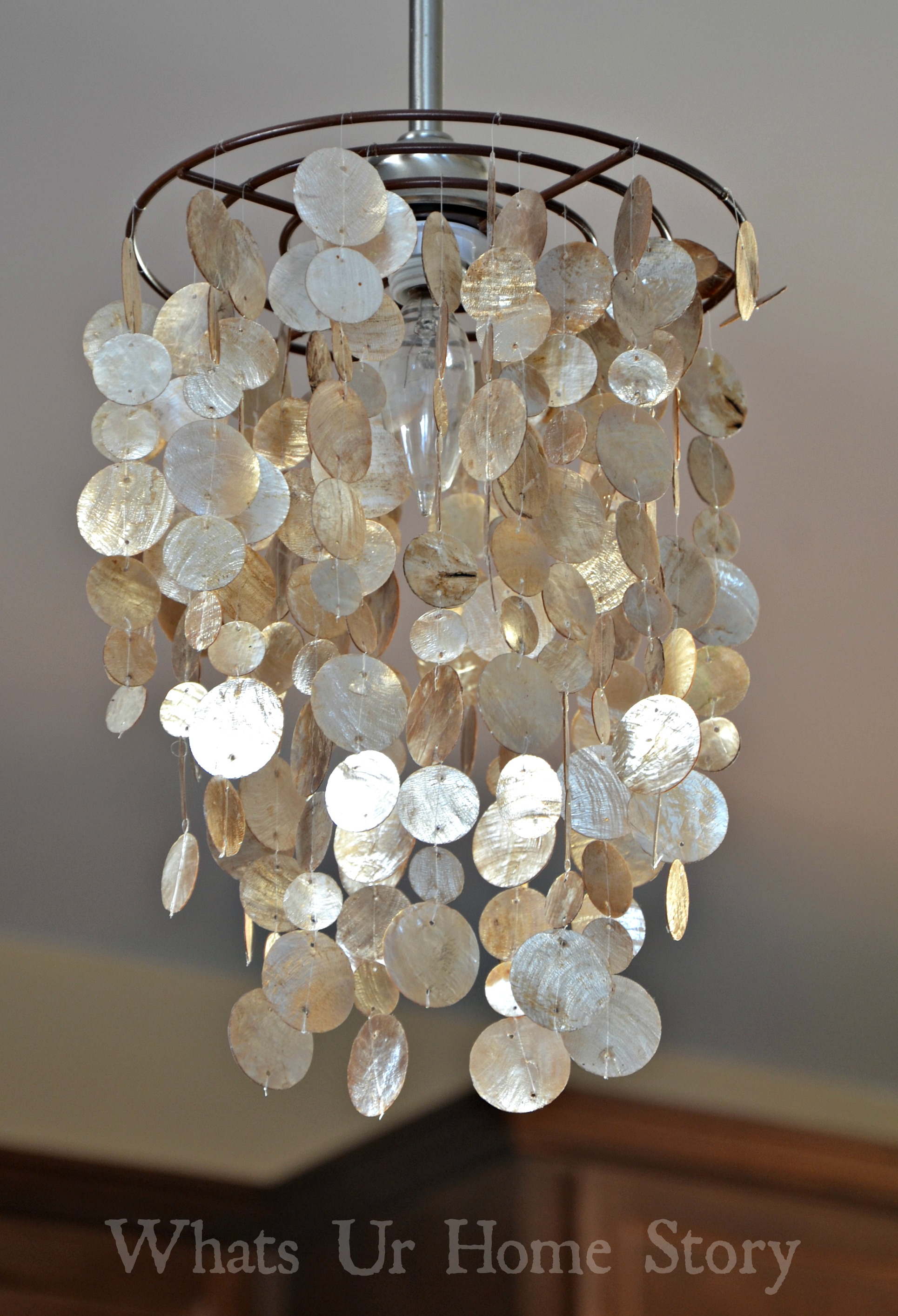 DIY Capiz Shell Chandelier – Craftbnb