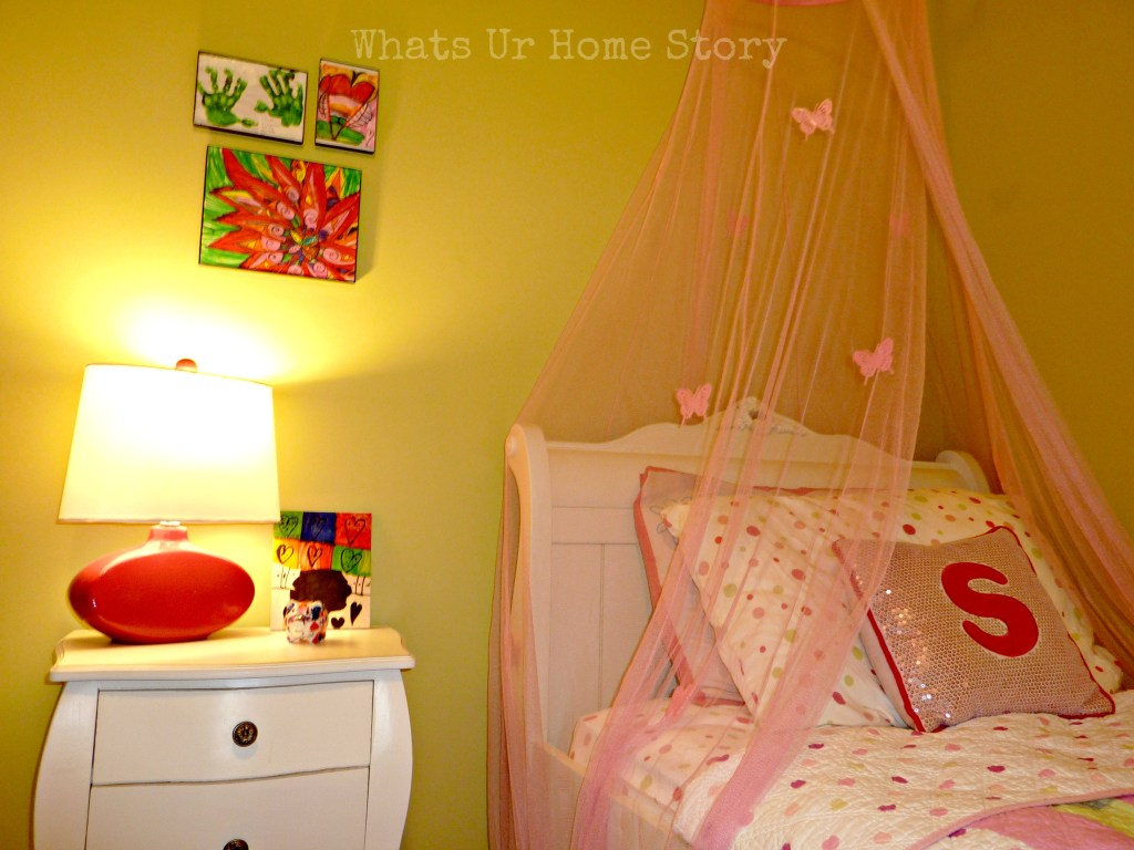 pink-girls-room, girl's-room-makeover, pink-and-green-girls-room
