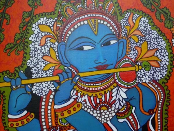 Kerala Mural Designs – Krishna