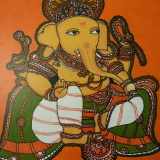 1…2…Baby steps in Kerala mural painting