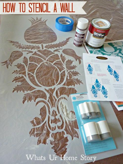 Wall-Stencil, how-stencil-a-wall, Uzbek-Suzani-Stencil, Royal-Design-Studio-Stencil