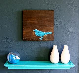 bird decor for home, bird string art
