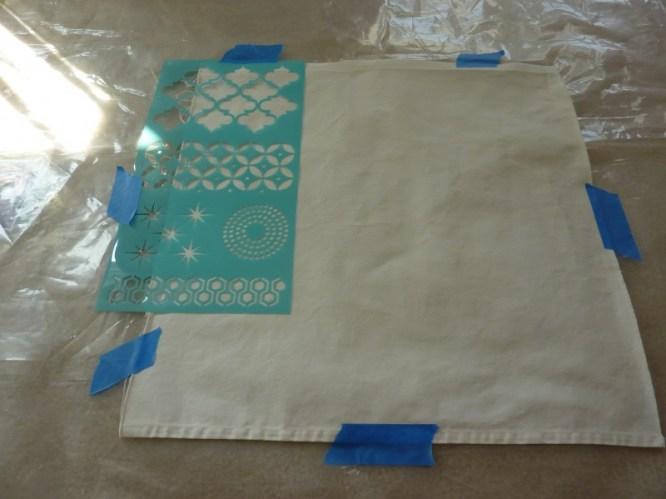 fabric stenciling