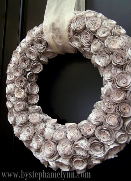 faux rosewood wreath