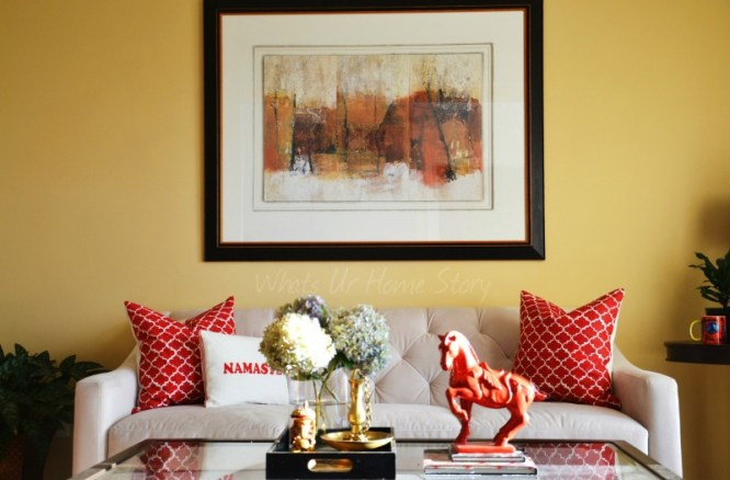Whats Ur Home Story: Living room makeover, Sherwin Williams August Moon
