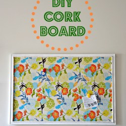 diy cork board, how to make a diy cork board, cork board redo, diy cork board