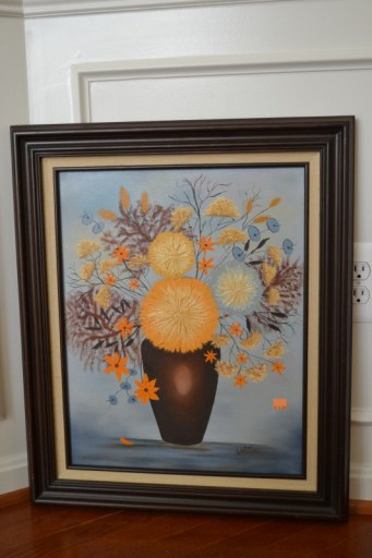 how to quickly update a thrift store frame with spray paint