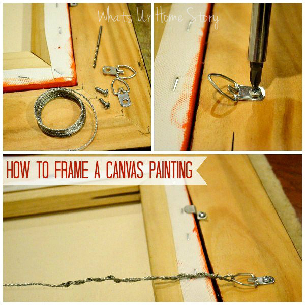 How to frame a canvas print, frame a canvas painting